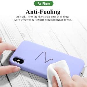 Image 3 - Líquido Original Case Para iPhone XS Luxo Capa de Silicone Para o iphone 7 8 Plus 6 6 S Plus XR XS max Cores Doces Capas Fundas Coques