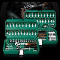 53 Pcs Ferramenta Mão Conjunto de Ferramentas para o Reparo Do Carro Chave De Fenda Da Catraca Chave de boca Conjunto de Soquete Profissional Kits de Ferramentas de Reparo Do Carro nova|Conjuntos ferramenta manual|Ferramenta -