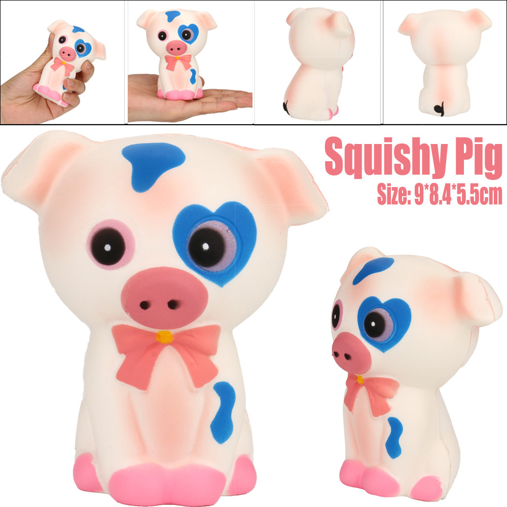 Squeeze Pig Cream Bread Scented Slow Rising Toys Phone Charm Gifts Hamburger Squishy Squishy Package W513