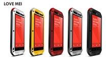Original Love Mei Powerful Case For Xiaomi Hongmi Note Redmi Note Waterproof Shockproof Aluminum Case Cover + Tempered Glass