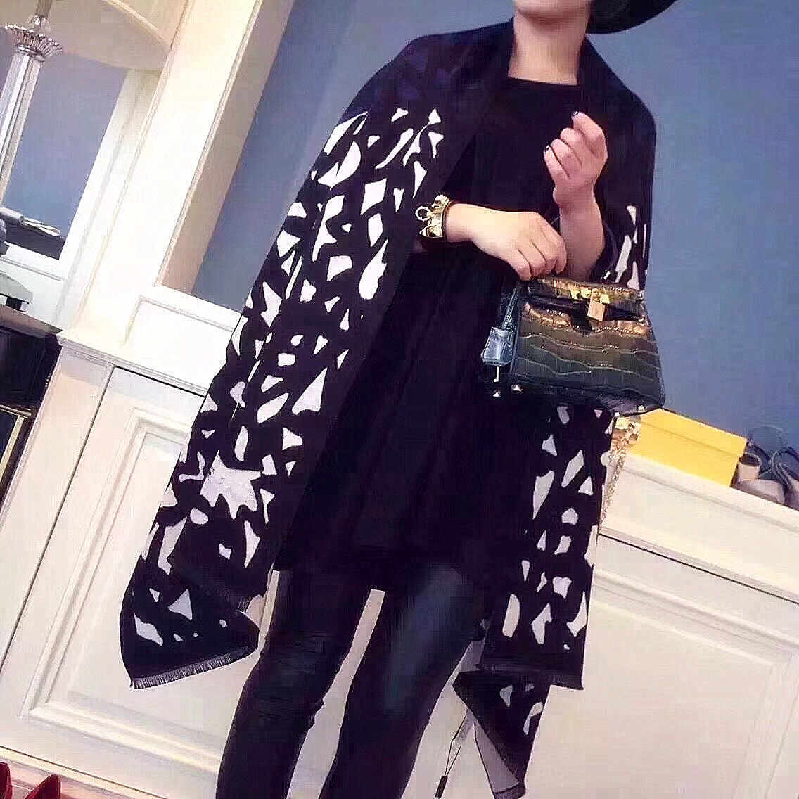 180 x 70 cm Winter Brand Luxury Oversize Scarves Simple Fashion Warm Blanket  Wrap Cashmere Scarf bde2a4507eb