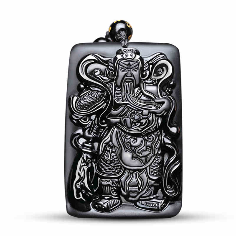 Jewelry & Accessories Necklaces & Pendants Iron Warrior National Wind Guan Gong Tag Necklace Stainless Steel Fashion Retro Domineering Guan Yu Pendant