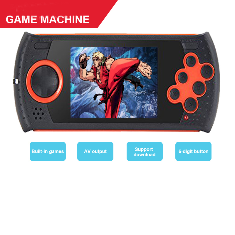 MD16 Sega simulator 302 inch game consoles SEGA16BT handheld PVP PXP FC Sega game consoles Support NES/MD/GBA Game TV output