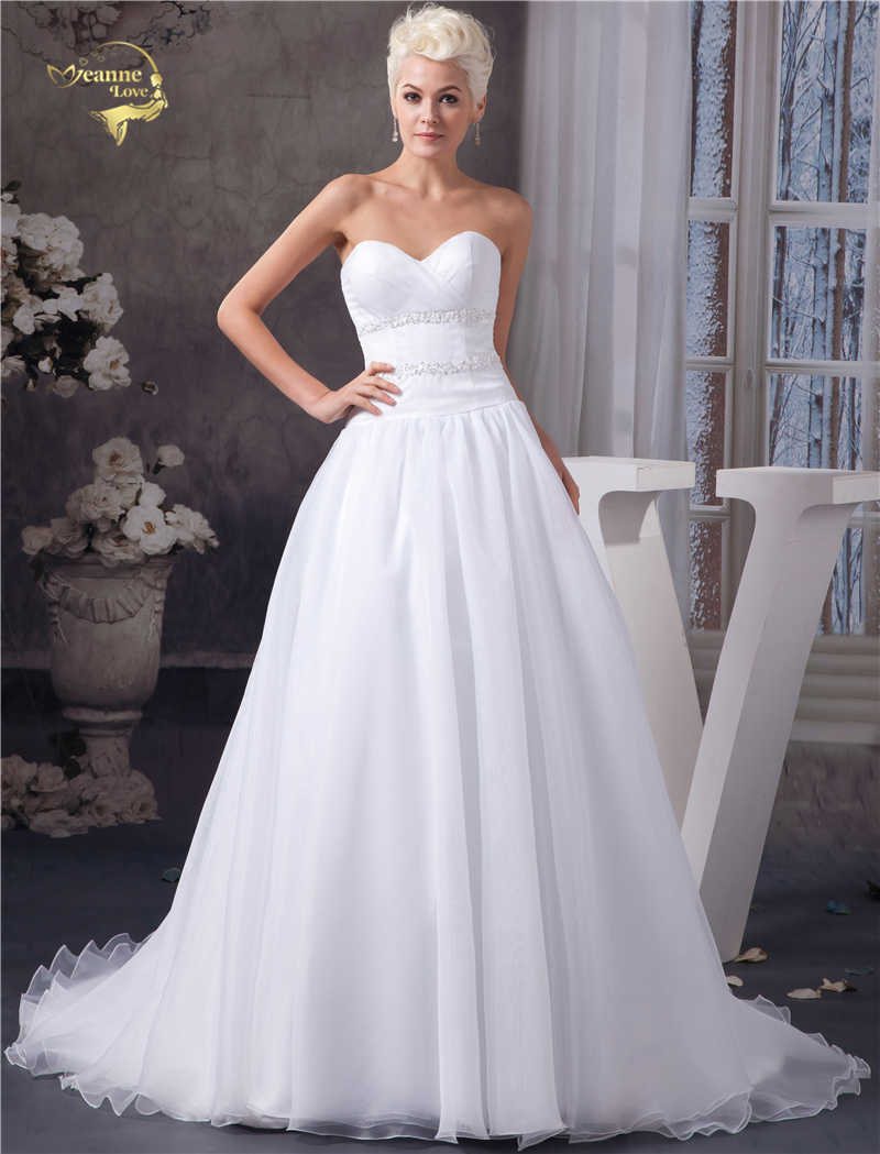 8679421045 Detail Feedback Questions about Jeanne Love White Organza Simple ...
