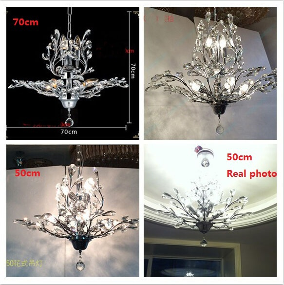 Modern Cm Candles K Crystal Chandelier Tree Leaf Crystal Abajur - Chandelier leaves crystals