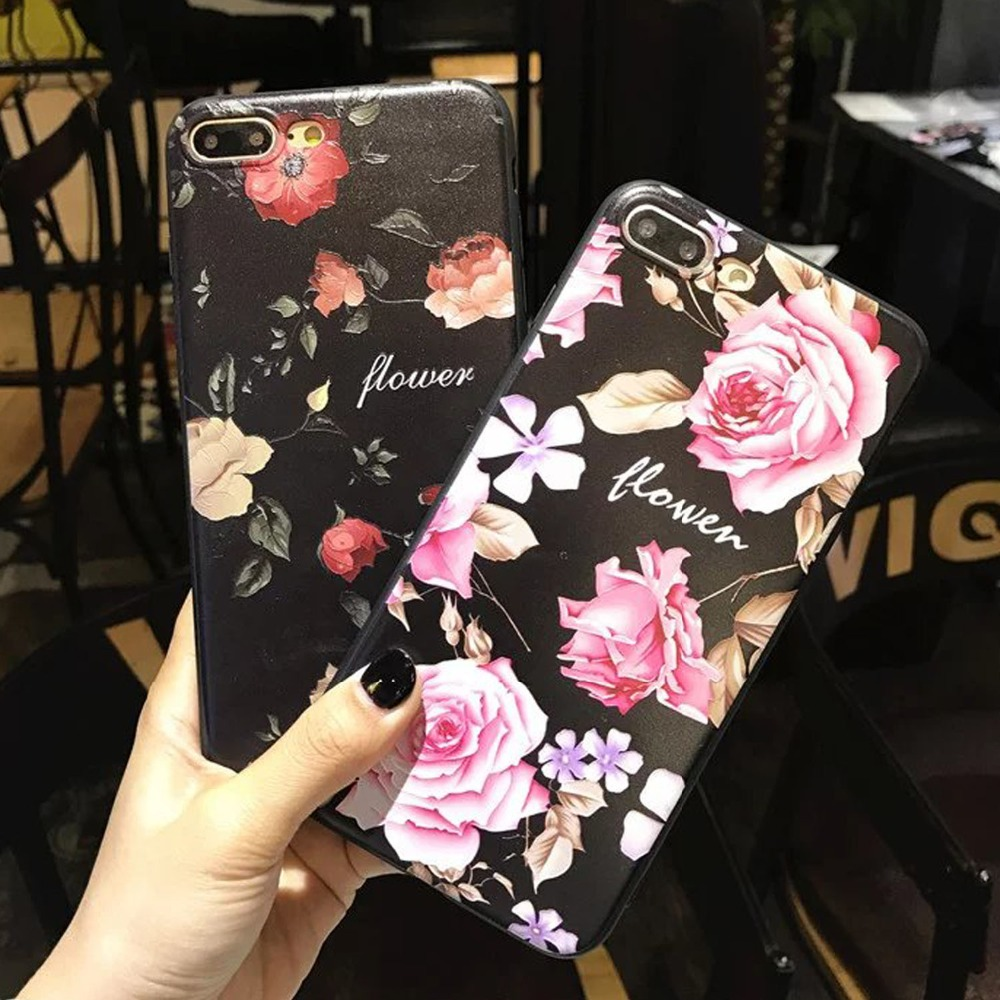 3D Fundas for iphone X 5S SE 6 6S 7 8 plus Beauty Peony Flower Case Soft Rubber Silicone TPU Cover Coque for Samsung S8 S9 Plus