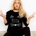 Новый 2017 Толстовка Женщины Толстовки Harajuku Kawaii Cat Печати Повседневная С Длинным Рукавом о-образным вырезом Пуловер Черный Балахон Tumblr Felpe Донна