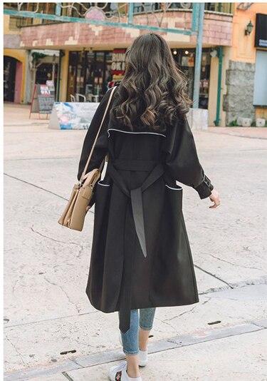 Outwear Primavera B737 pink black Della Giacca Sottile Blue Cappotto Cappotti La Abbigliamento Autunno Vento E 2018 Moda Lungo A Donne Di Trench Nuovo Allentato Donna Con Cinghia Signora Impermeabili xfqgpf6T4