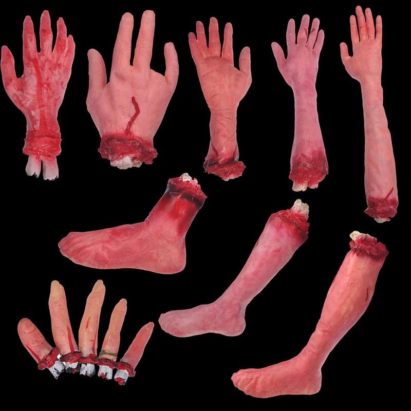 13Piece / set Halloween Horror rekviziti strašljivo odrezani krvavi - Prazniki in zabave - Fotografija 3