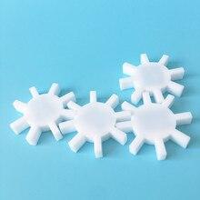 3pcs , 40*7 millimetri PTFE Agitatore Magnetico Gear Tipo Ottagonale Magneton Stir Bar Spinbar Mescolando Mixer