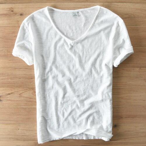 white linen t shirt mens