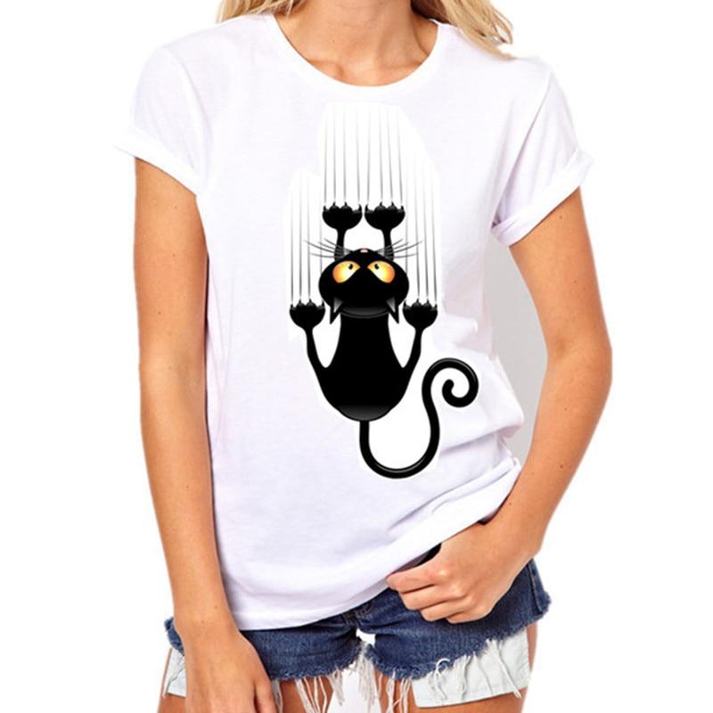 Juokingi marškinėliai - Kokybiški. Originalūs Laisvalaikio Juokingi juoda katė