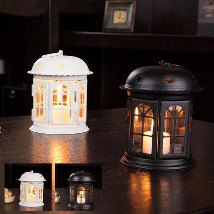 Marocchino Decor Ferro Antico Stella Casa Candeliere Romantico Europeo Wedding Candle Holder Lanterna Retro Decorazione Della Casa Sconce