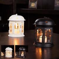 Antique Iron Star House Candlestick European Romantic Wedding Candle Holder Lantern Retro Home Decoration