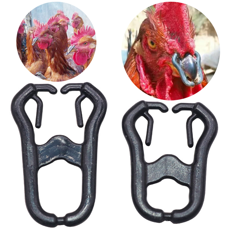 50 Pcs Chicken mouth snap ring Alternatives to chicken glasses Large 35mm small 30mm Cage laying hen Pheasant Big cock