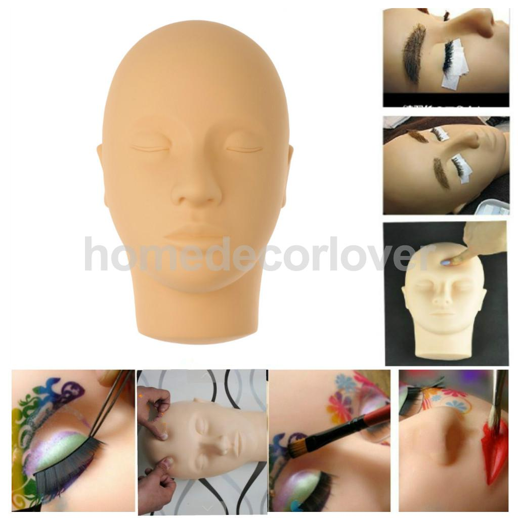 Closed Eyes Mannequin Training Head For Eyelashes Extension Practice / Makeup Face Painting / Face Acupuncture Massage