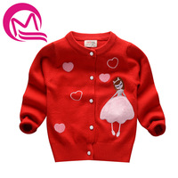 New Autumn Girls Sweater Cardigans Kids Children Fashion Embroidery Jumper Sweater Girl Knitwear Baby Girls Clothes