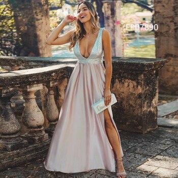 Pink Prom Dresses 2020 Ever Pretty A-Line Sequined Elegant Women Dresses Evening Party Special Occasion Mezuniyet Elbiseleri 5