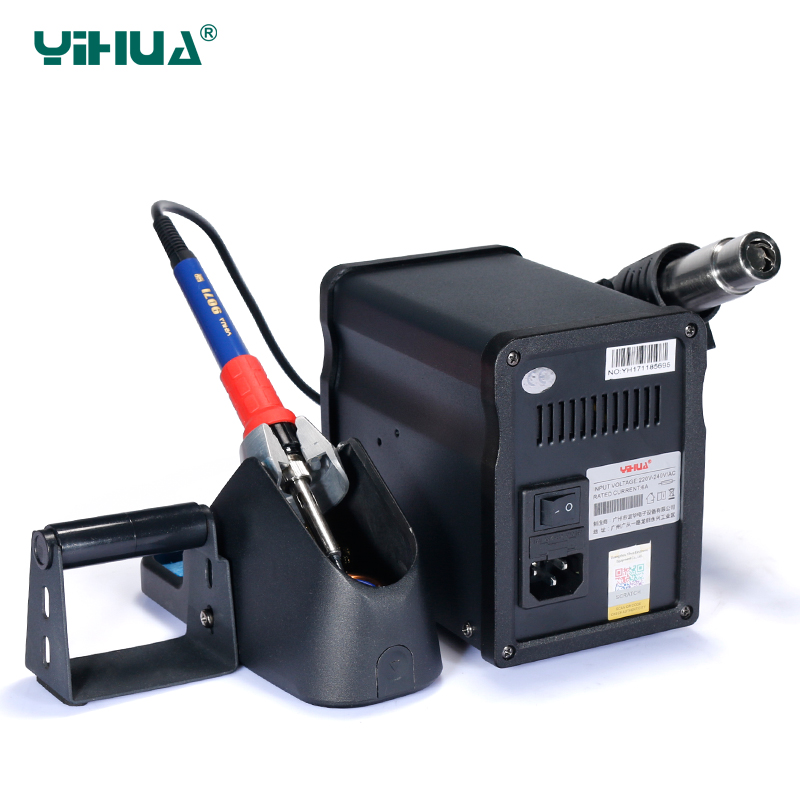 Large LCD display YIHUA 995D+ Iron Soldering Station With Air Gun Soldering Station For Solder