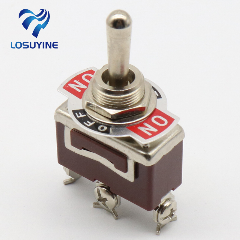 Silver Contacts high quality 3 screw momentary toggle switch,(ON) OFF (ON) spring return цена
