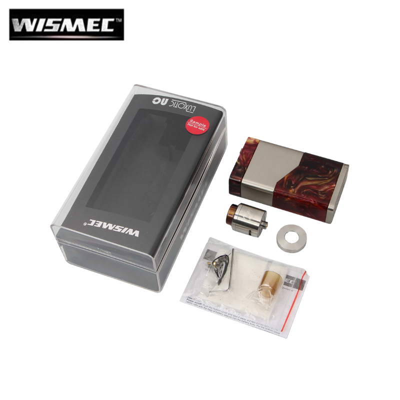 Original Wismec LUXOTIC NC Guillotine V2 Kit 250W LUXOTIC NC BF Box MOD Vape Clapton 0.28ohm Coil Fit 18650 20700 Battery new original wismec luxotic squonker kit tobhino bf rda