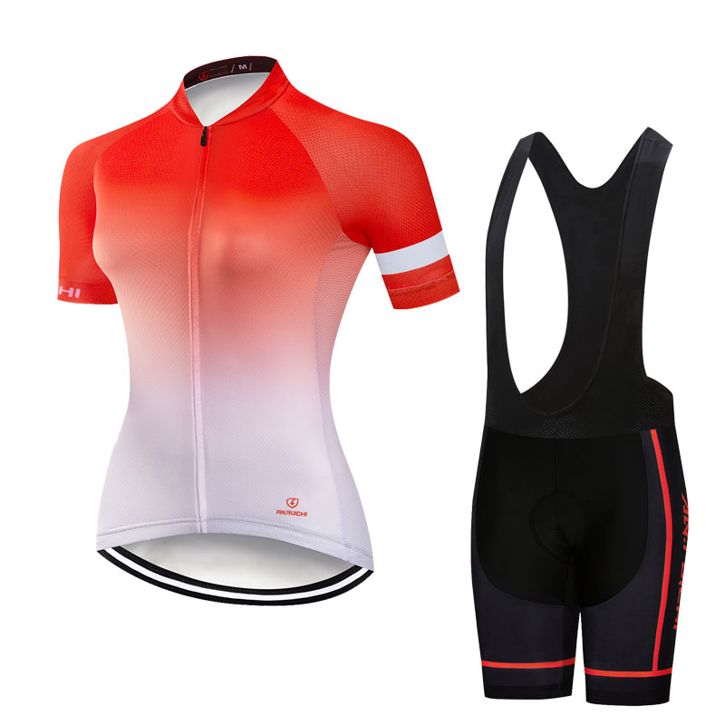 Gradient Color Summer Women Riding Bicycle Cycling Sets Anti-sweat 3D Padding Cushion Sport Jerseys Customized/Wholesale ServiceGradient Color Summer Women Riding Bicycle Cycling Sets Anti-sweat 3D Padding Cushion Sport Jerseys Customized/Wholesale Service