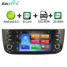 JDASTON 6.2″ Android6.zero Automobile Radio For Fiat Abarth Punto EVO Linea 2012-2014 eight Core 2GB Multimedia GPS Navigation Bluetooth