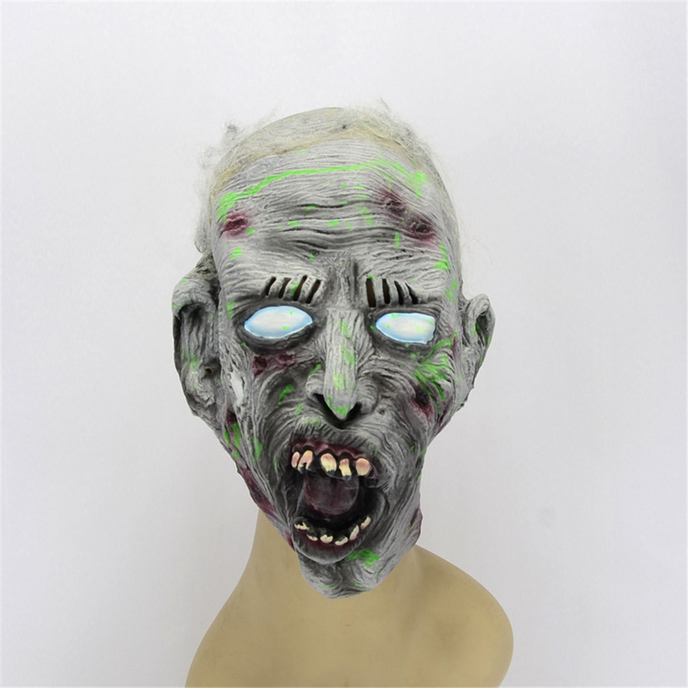 New Halloween Adult Mask Zombie Mask Latex Bloody Scary Extremely Disgusting Full Face Mask Costume Party Cosplay Prop