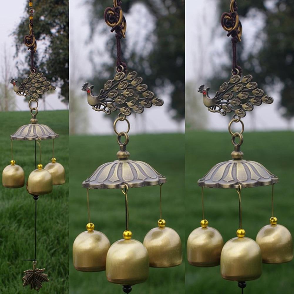 Retro 3 Copper Bells Chimes Feng Shui Wind Chimes Yard Garden Home ...
