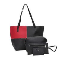 HTNBO Women S Handbags Women Bag Purse Leather 4Pcs Set Lady Fashion Bolsa Feminina Soft Clutch