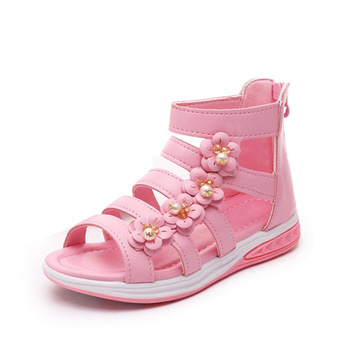 Summer style children sandals Girls princess beautiful flower shoes kids flat Sandals baby Shoes sneakers Girl Sandals online shopping in pakistan with free home delivery