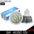 MUMENG MR16 LED Light Bulbs 16pcs SMD5730 Spotlight Bulb 5W LED Lampadas 12V Bombillas Led Energy Saving Diodes Ampoule 4X