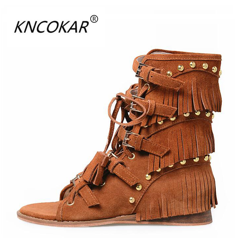 2017 fashion sandals casual comfortable wedges tassel zipper summer nubuck cowhide rivet cool boots2017 fashion sandals casual comfortable wedges tassel zipper summer nubuck cowhide rivet cool boots