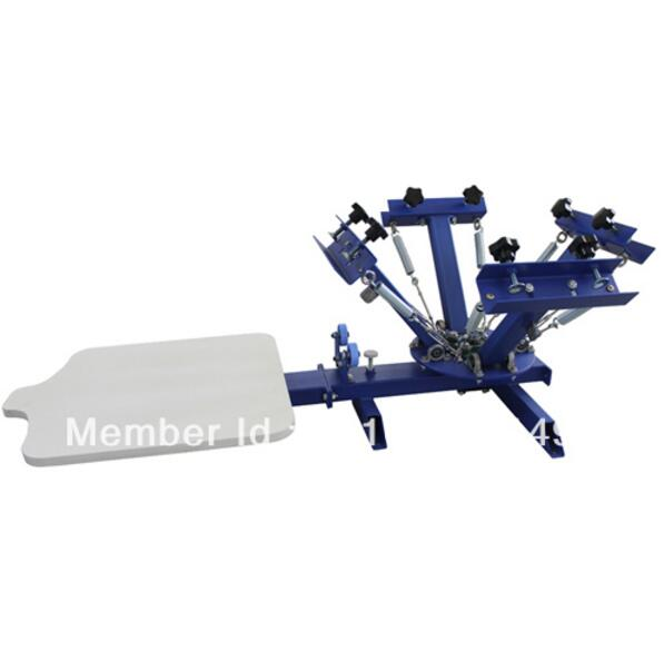 CHEAP 4 color 1 station silk screen printing machine t-shirt printer press equipment carousel printing area 40*50CM new style 468 colors carousel screen printing machine for t shirts