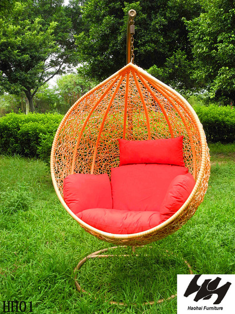 New Garland Hanging Basket Rattan Swing Chair Outdoor Rattan Sofa