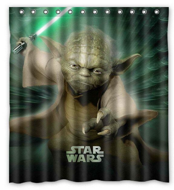 Star Wars Poster Yoda Death Trooper Printed Polyester Shower Curtain 66 X 72 Inch American Style Bathroom In Curtains From Home