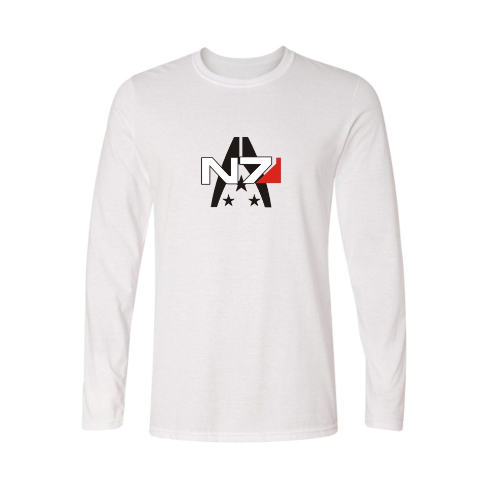 White t shirt effect - Aliexpress Com Buy N7 Mass Effect Man S T Shirt High Quality White T Shirt Men Long Sleeve With Rpg Game T Shirt Men Brand 2017 In Mans Sexy Tees From