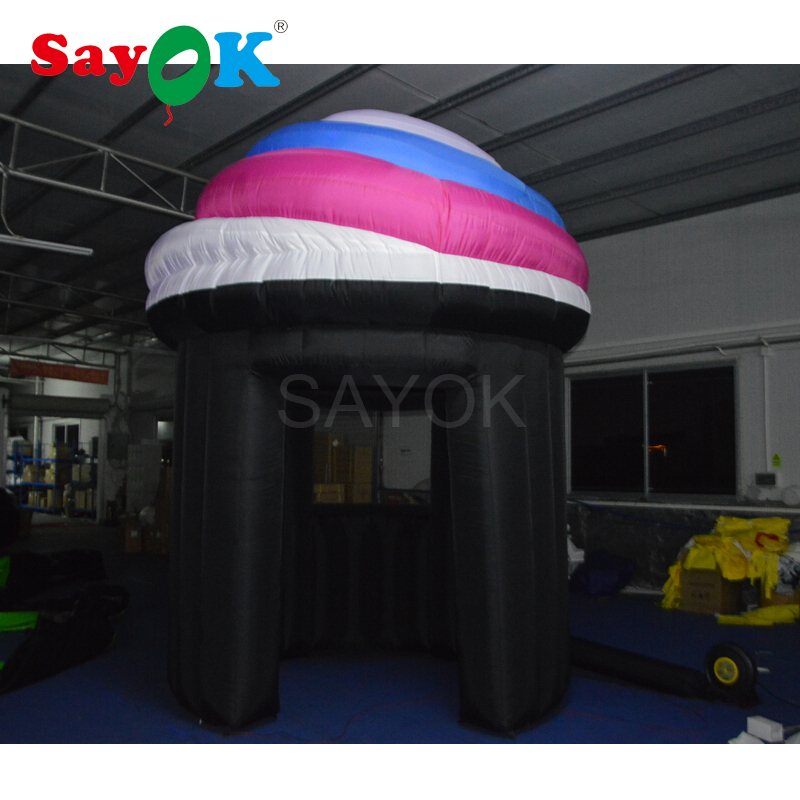 3.5mH Advertising inflatable kiosk ice cream booth inflatable ice cream stand for sale