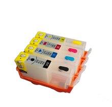4PCS For HP 178 For HP178 refillable ink cartridge For HP Deskjet 3070A 3520 Photosmart 7515 B109a B109n B209a B210a printer