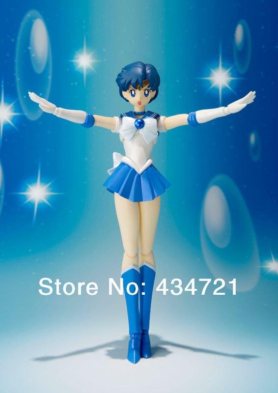 Popular Japanese Anime S.H.Figuarts Sailor Moon Pretty Guardian Sailor Mercury Ami Mizuno PVC Action Figure Toy