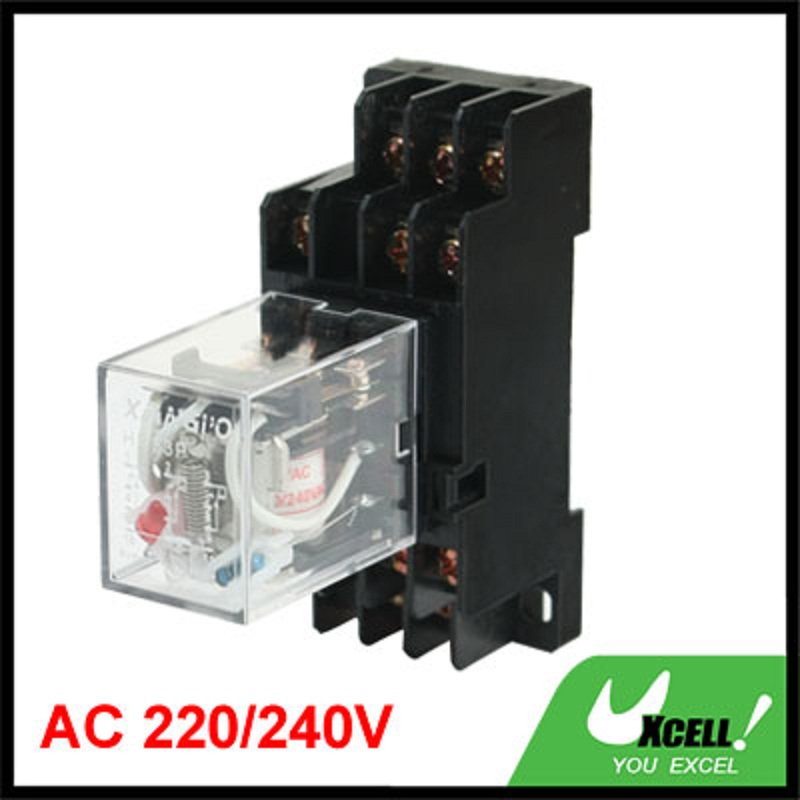 цена на Hh53p 220/240Vac Coil Volt General Purpose Power Relay W Pyf11a Socket