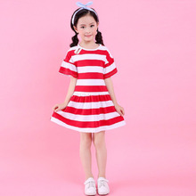2019 Summer Girl Dress Kids Children Dress Cotton Striped Princess Dress Baby Girls Clothes 4 5 6 7 8 9 10 Years Girl Costume цены