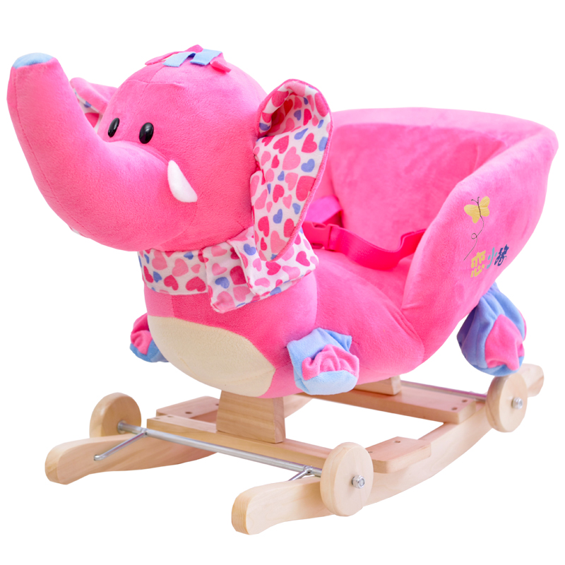 Kingtoy Plush Elephant Baby Rocking Chair Children Wood Swing Seat Kids  Outdoor Ride On Rocking Stroller Toy In Stuffed U0026 Plush Animals From Toys U0026  Hobbies ...