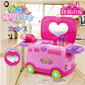 New Arrival Children play house playsets intelligent dialogue open vanity mirror girls dressing table with light and sound