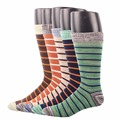 Rioriva Men Formal Dress Socks Socs Mid Calf Cotton Blend Us 8-14 /eu 42-49 Gift Box Fashion Designer Brand Pattern Big Size Sox
