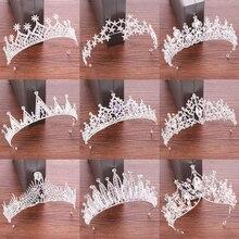 Crystal Tiara Crown Hair Accessories Wedding Tiara Bridal Crown Women Head Piece Hair Jewelry Princess Crown Headdress Diadem цена и фото