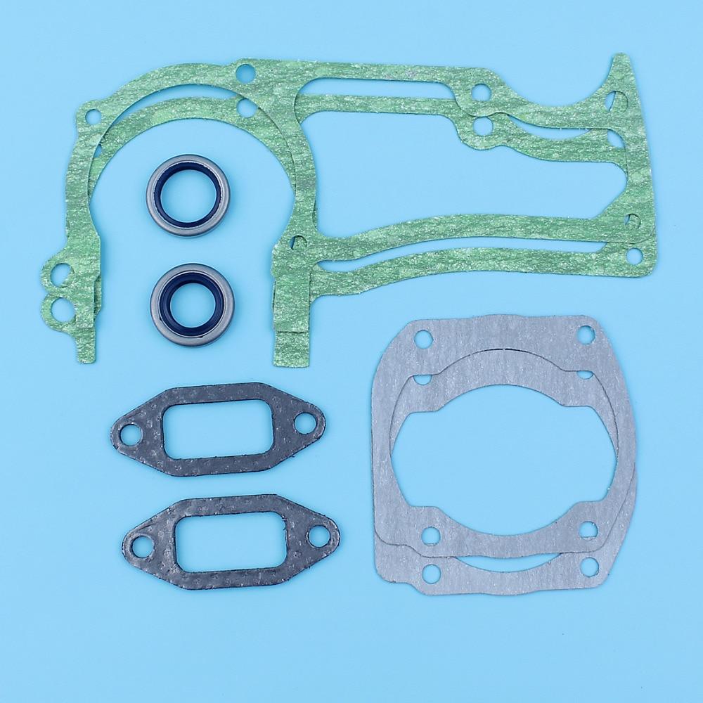 Crankcase / Muffler / Cylinder Gasket Oil Set For Husqvarna 365,371 K,375 K,362 XP, 372 XP TORQ Chainsaw 503627201,503260301