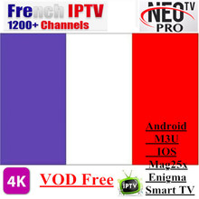 Neotv pro H.265 French IPTV subscription Arabic Europe Belgium UK IPTV code Neo one year LiveTV VOD M3U MAG Android Smart TV Box(China)