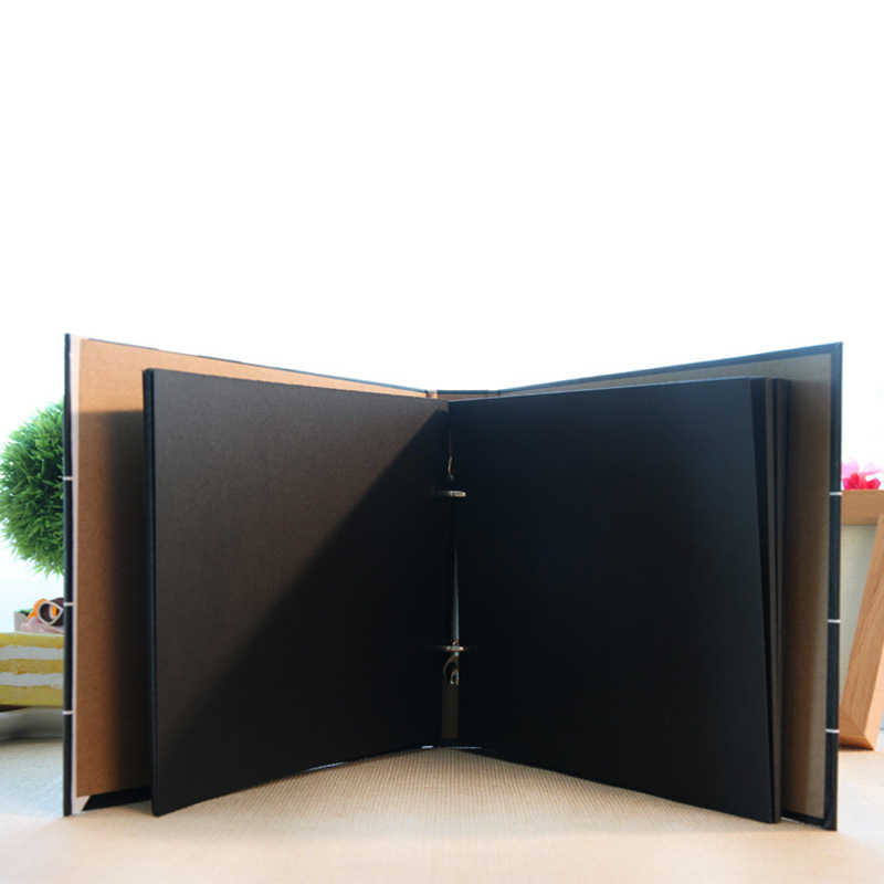 10 inch DIY Photo Album Black Wedding Photos Children Family Lovers Birthday Gift Sticky Type Memory Record Scrapbook Album