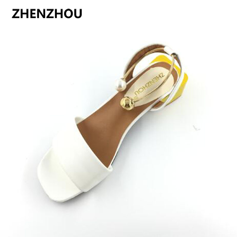 Women s shoes 2017 summer brand sandals beaded women s sandals comfortable professional shoes student shoes